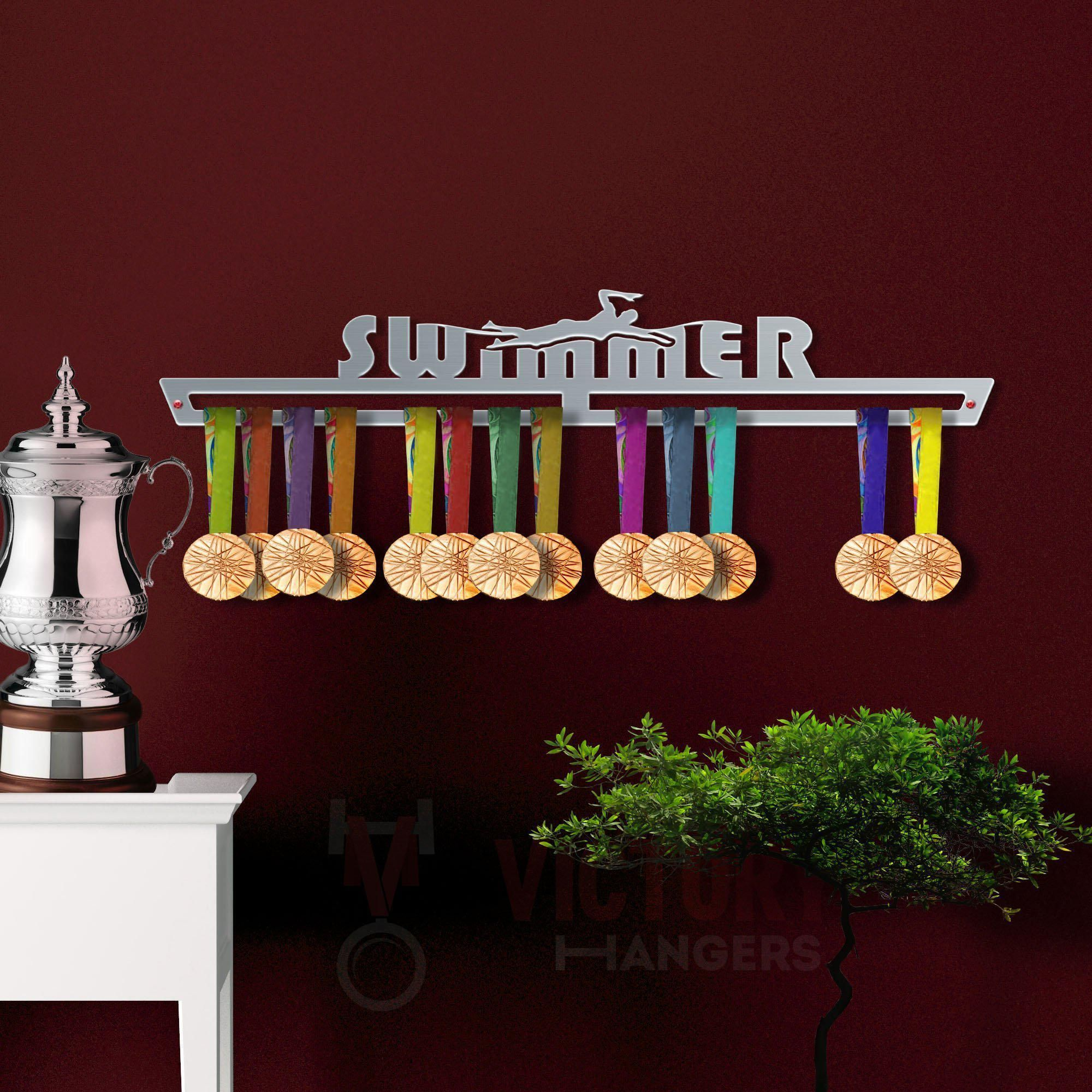Stainless Steel Medal Display VICTORY HANGERS Challenge Accepted Medal Hanger Display V2 The Best Gift for Champions ! Motivational Medal Hanger by VictoryHangers