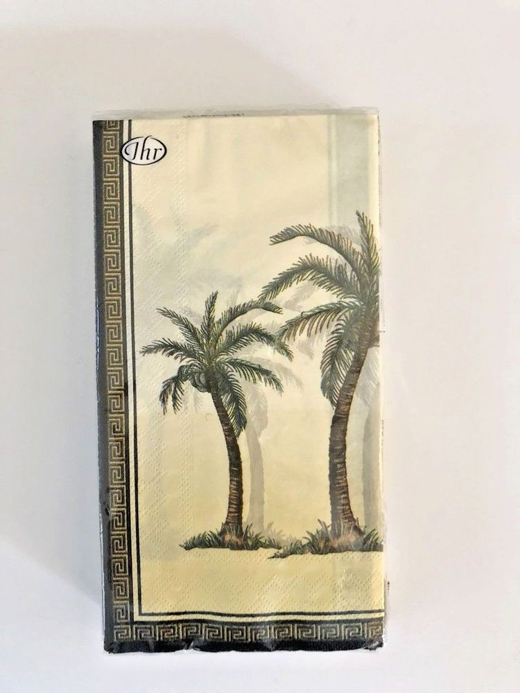 Palm Tree Guest Buffet Hand Towels Napkins Party Paper Set Of 2 Thr 16 Each