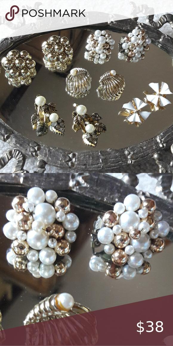 Vintage Costume Jewelry Earring Bundle Japan In 2020 Costume Jewelry Earrings Vintage Jewelry Earrings Earring Bundle