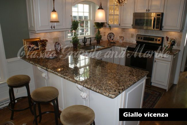 giallo vicenza granite with what backsplash