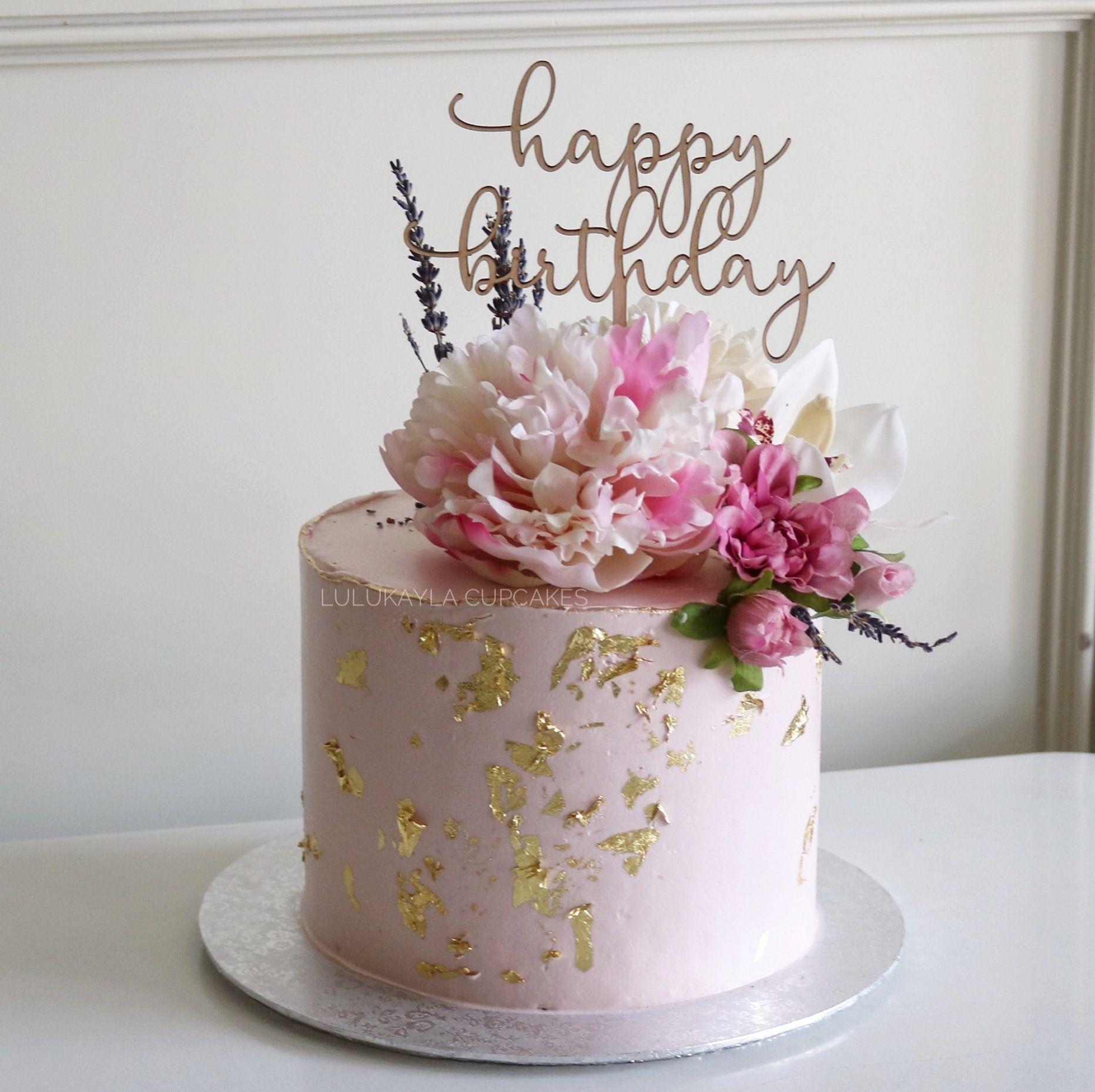 Flower Cake 70th Birthday Cake 14th Birthday Cakes Birthday Cake Decorating