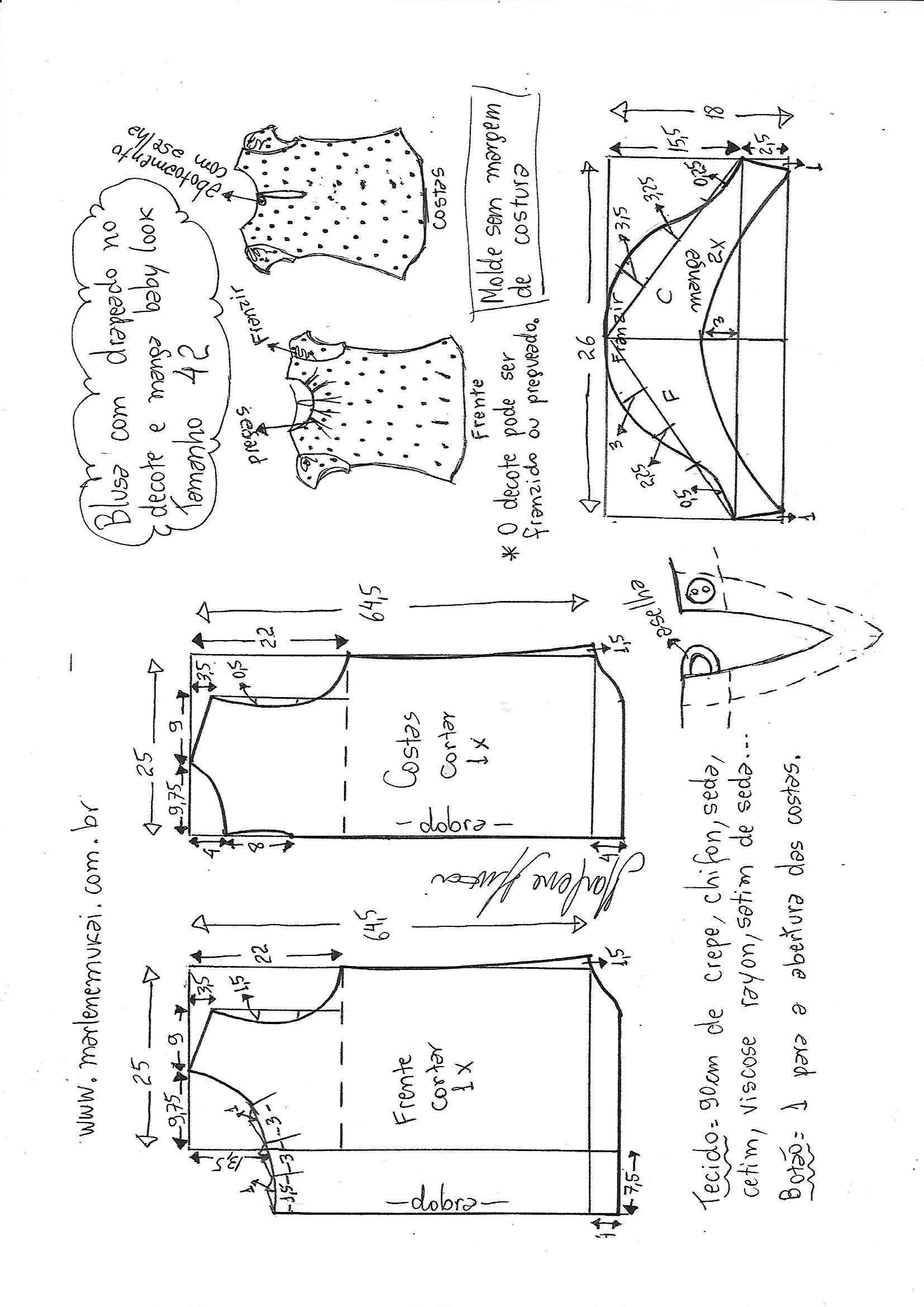 Visite o post para mais. | Patrones de costura | Pinterest | Costura ...