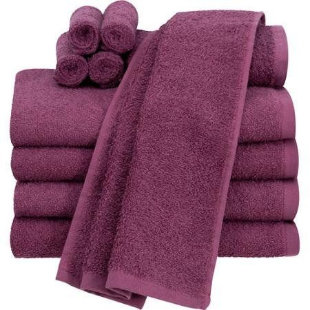 Bath Towels At Walmart Mesmerizing Mainstays Value 60Piece Towel Set Rasberry Enjoy A Refreshing