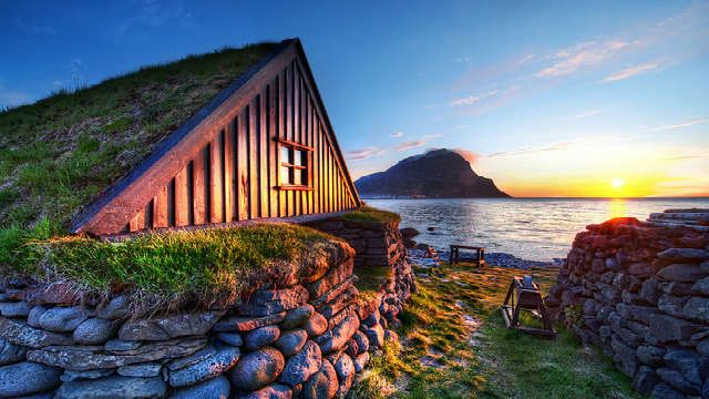 Village of Bolungarvik from Osvor Museum
