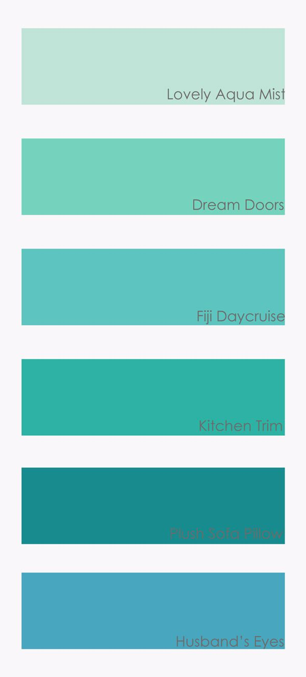 Paint Swatch Teal Turquoise Painting Aqua Colors Color Palette
