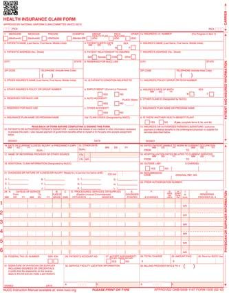 Insurance Claim Forms Cms  Laser  Deskjet  Psychothera