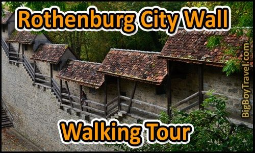 Rothenburg City Wall Walking Tour Map That Is Printable For A Do It