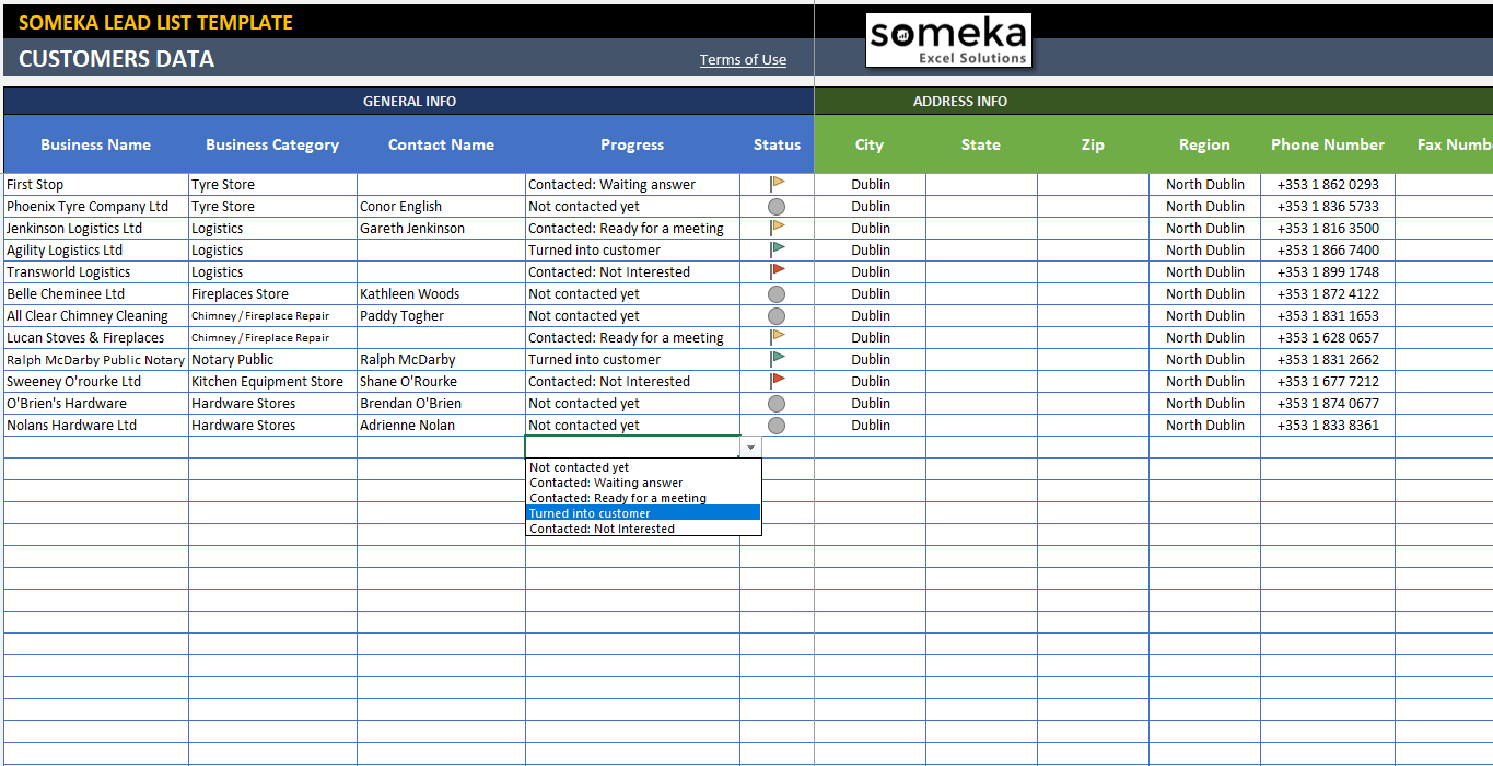 Lead Tracking Excel Template Customer Follow Up Sheet Spreadsheet Template Excel Templates Excel