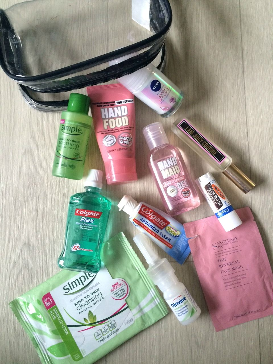 Long Haul InFlight Beauty Essentials Packing tips for