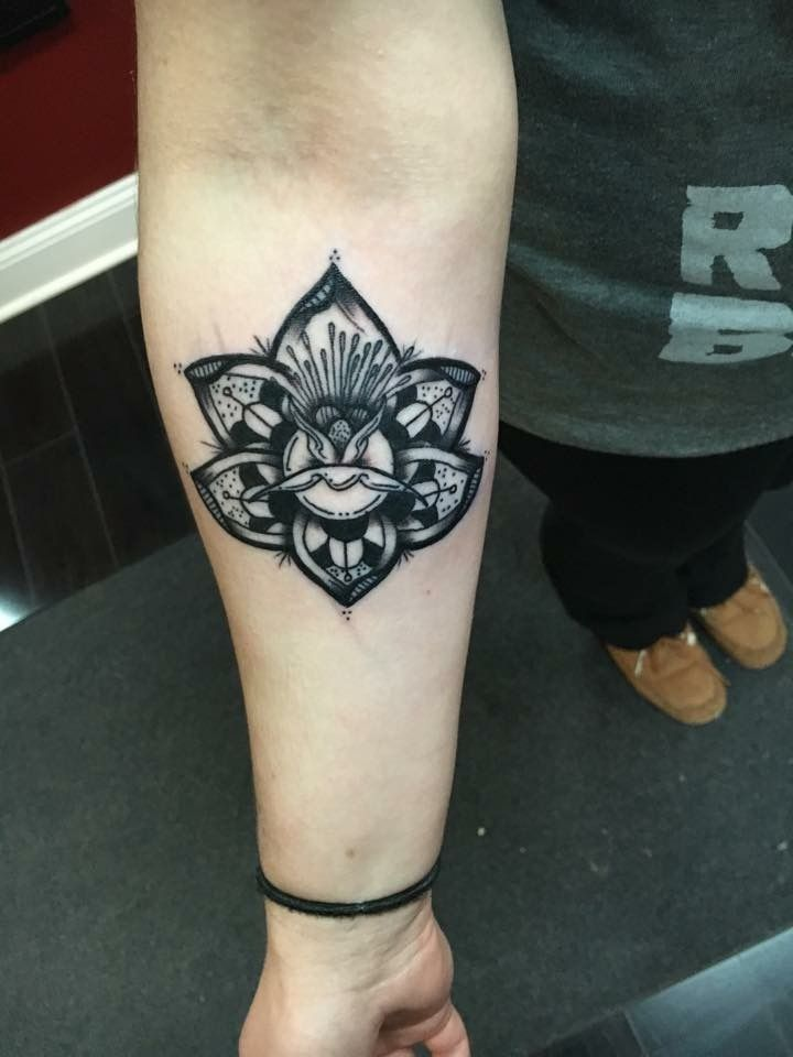 My first tattoo! Lotus by Jeff Naumann Executive Ink South Elgin IL
