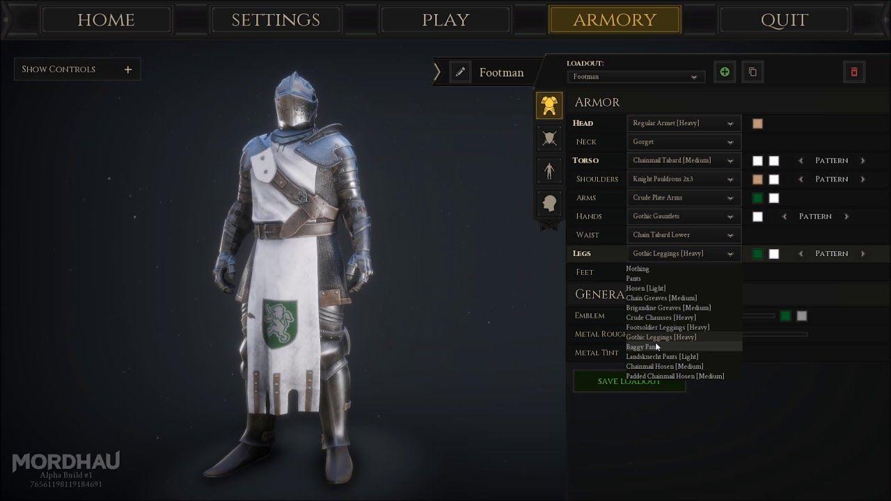 Mordhau full armor customization