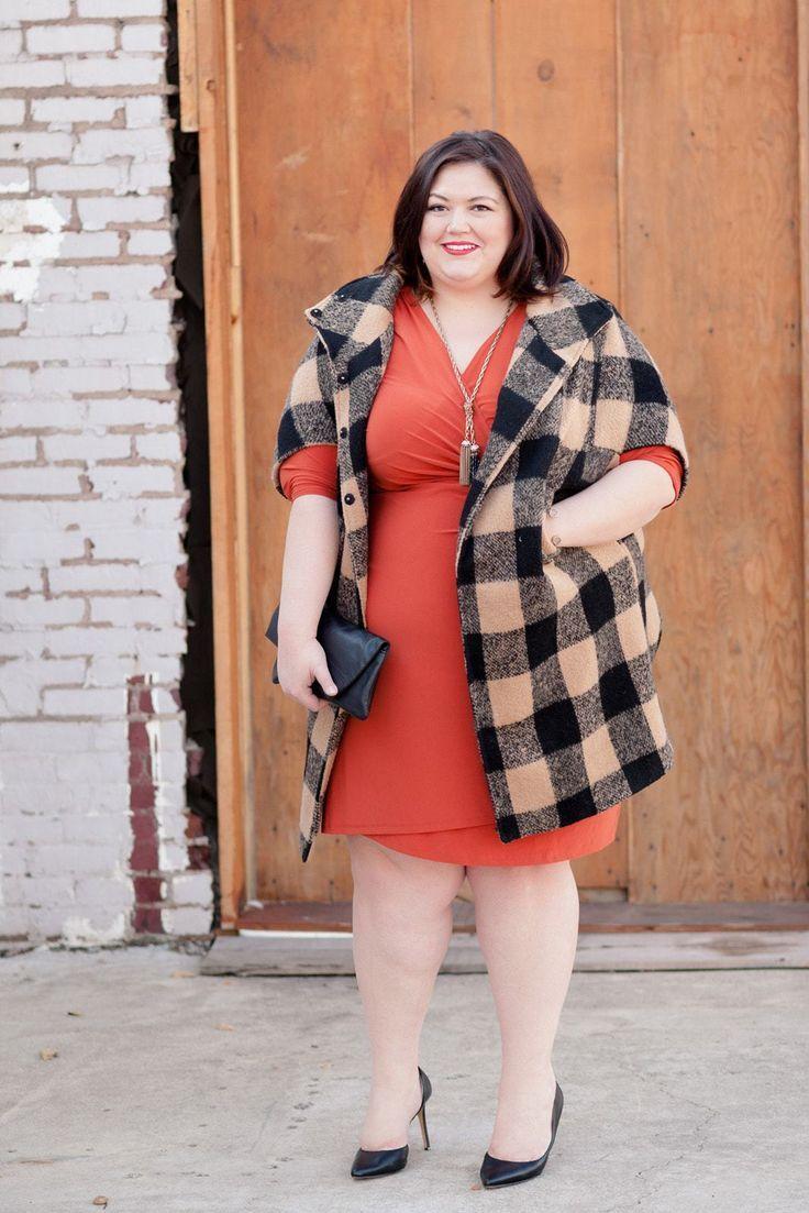 Burnt orange dress plus size  Default Dress from Kiyonna  Orange You Glad  Pinterest  Fashion