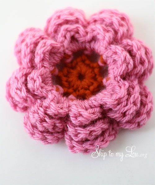 How To Crochet A Flower Crochet Flowers Crochet And Flower