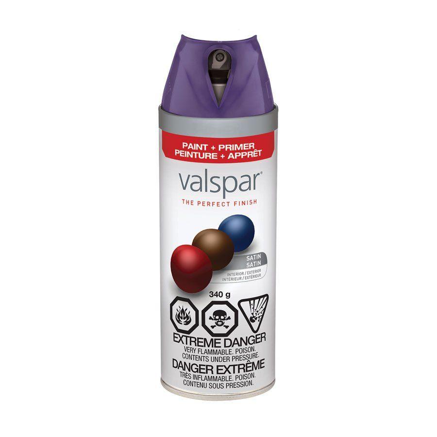Valspar Turquoise Spray Paint Valspar 340g Sumptuous Purple Satin Spray Paint At Lowes Canada