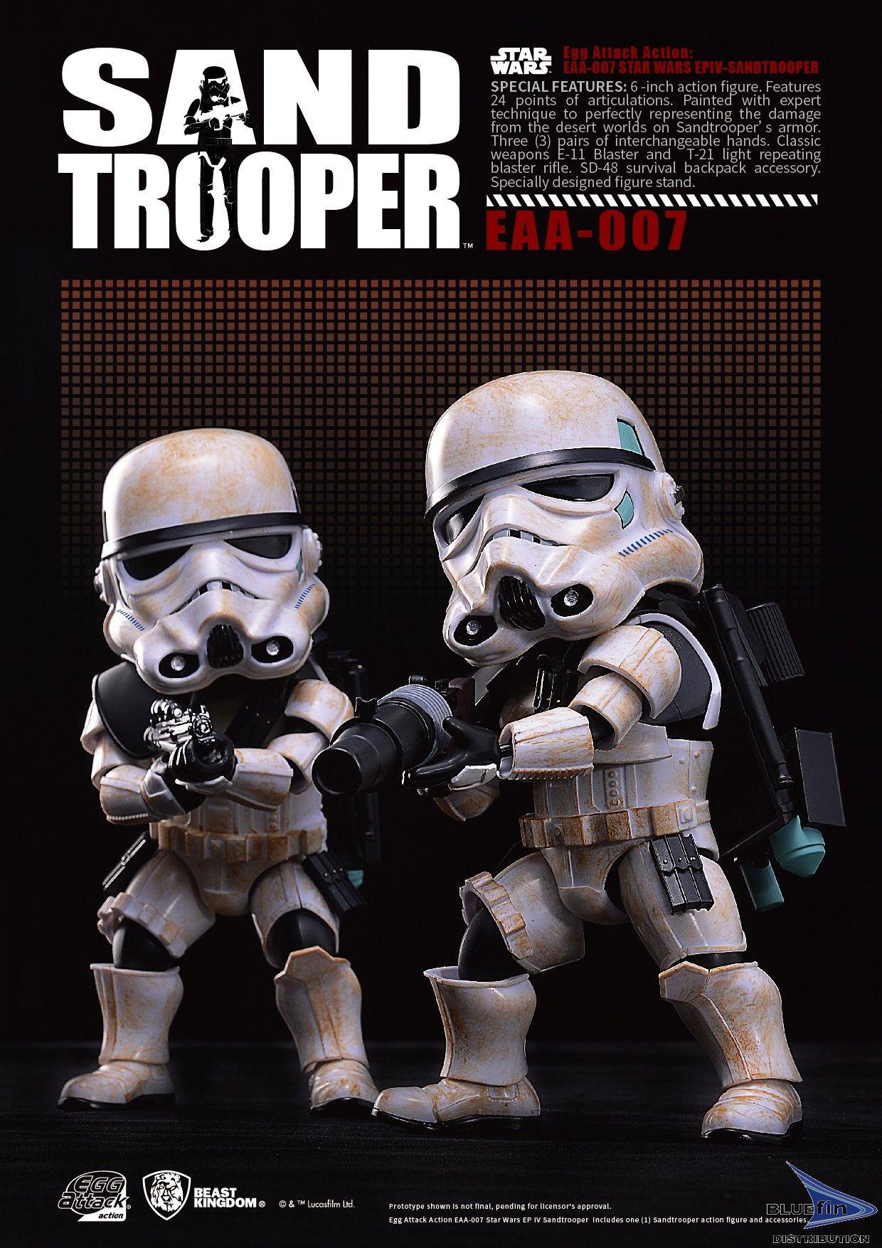 """Egg Attack Action-007 Sandtrooper """"Star Wars"""""""