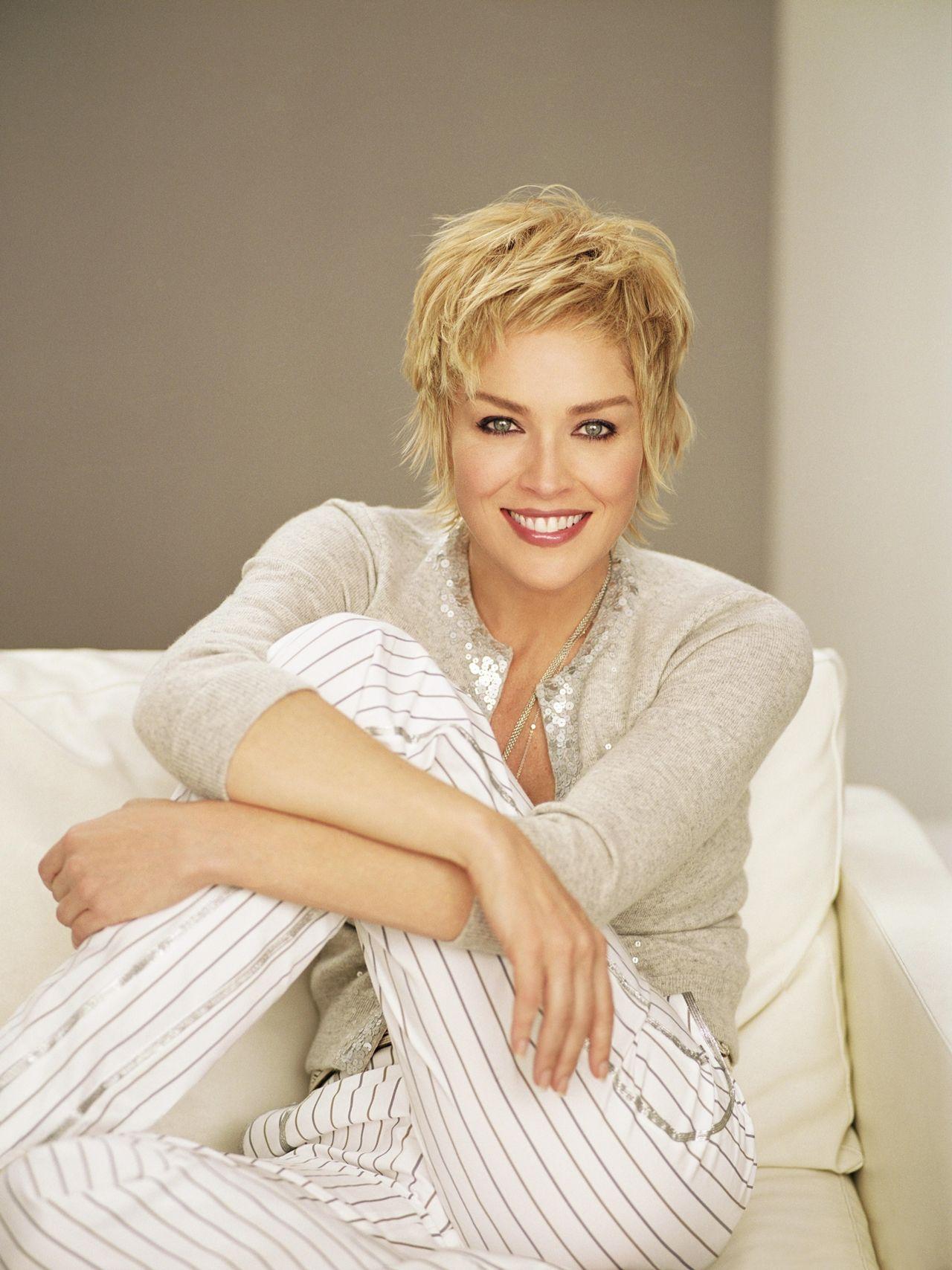 Sharon Stone 07 Favourite Short Hair Cuts Pinterest Frisuren