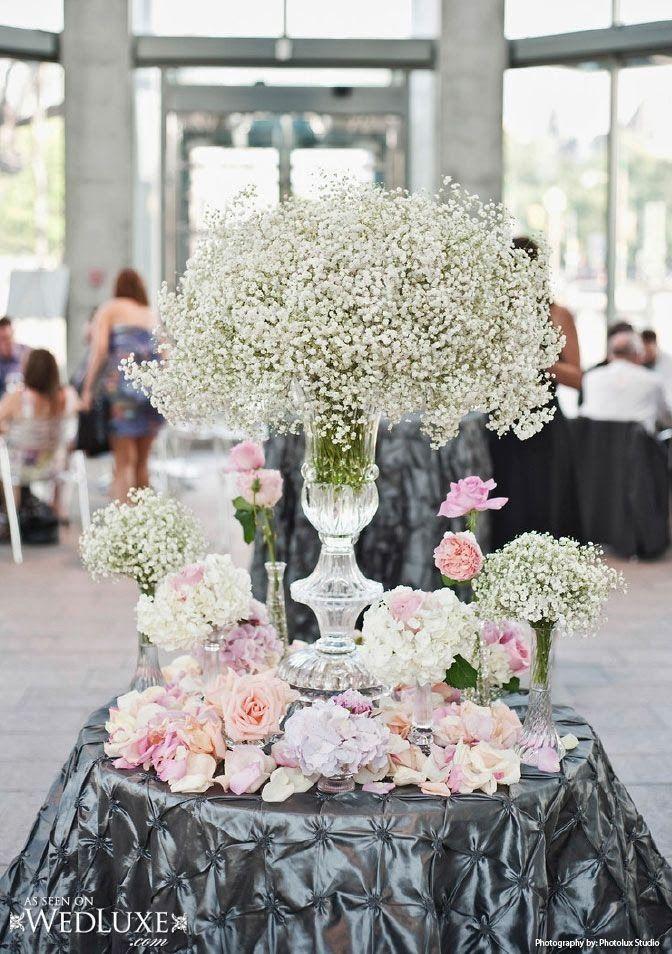 Blog O Kwiatach I Florystyce Slubnej Bukiet Slubny Z Kaszki Gipsowki Trendy Slub Spring Wedding Centerpieces Elegant Wedding Centerpiece Wedding Centerpieces