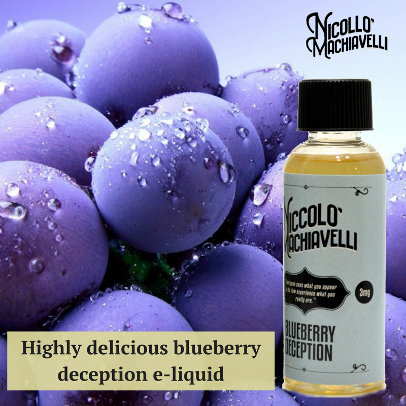 Get a highly delicious fresh blueberry flavored e-liquid.