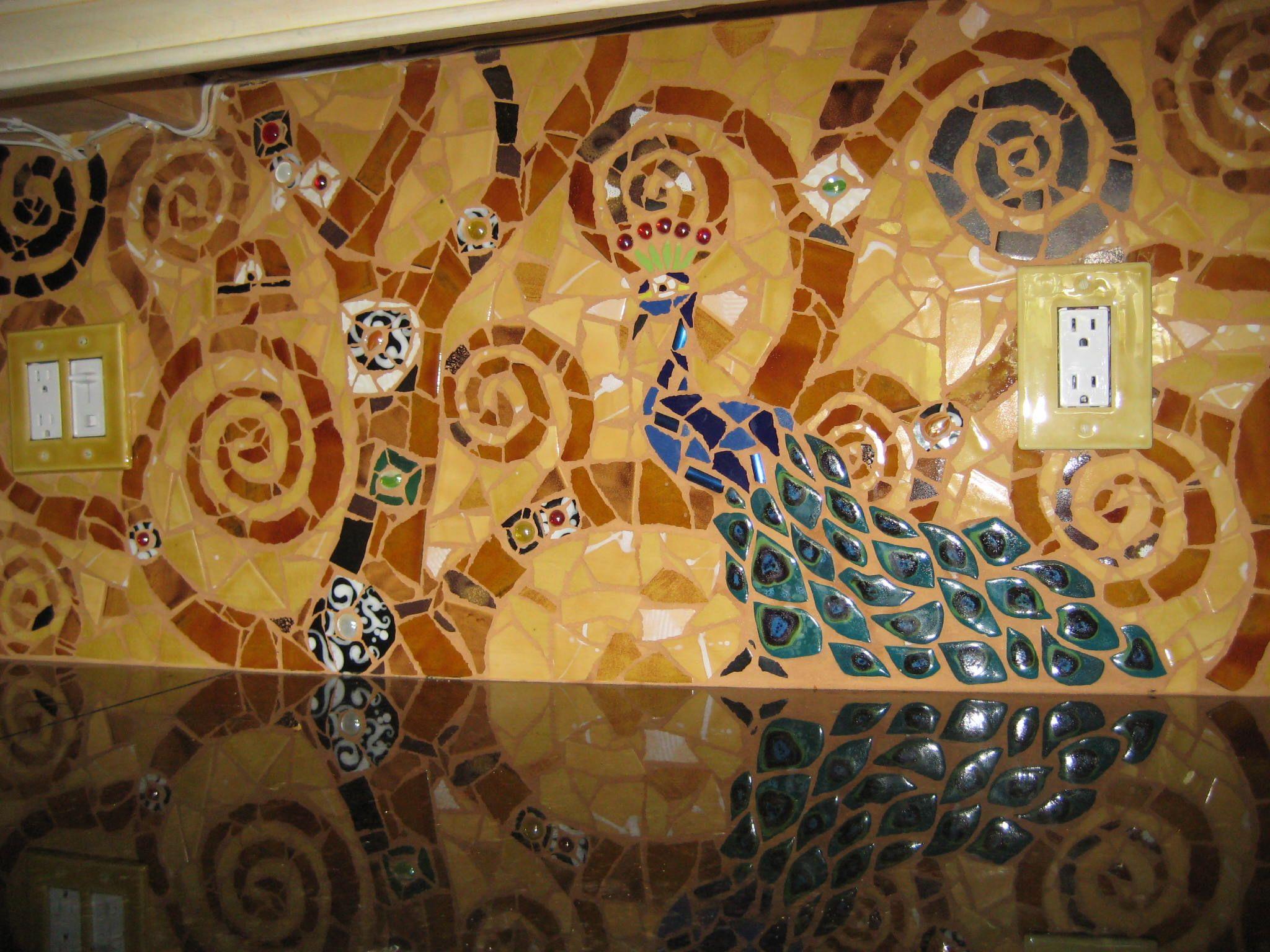 My mosaics  Tree of Life Backsplash