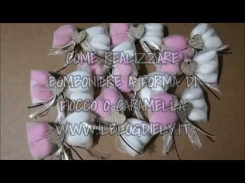 Sacchettini per confetti a forma di fiocco o caramella per ...