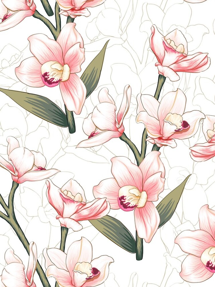 screensaver digital art phone background Orchid Phone Wallpaper