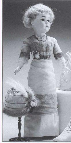 "18""Antique French Fashion China Head Lady Victorian Doll Dress Pattern Book | eBay"