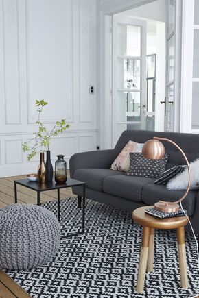 Déco salon  le gris nous fait de lu0027oeil Salons, Living rooms and - decoration salon en gris