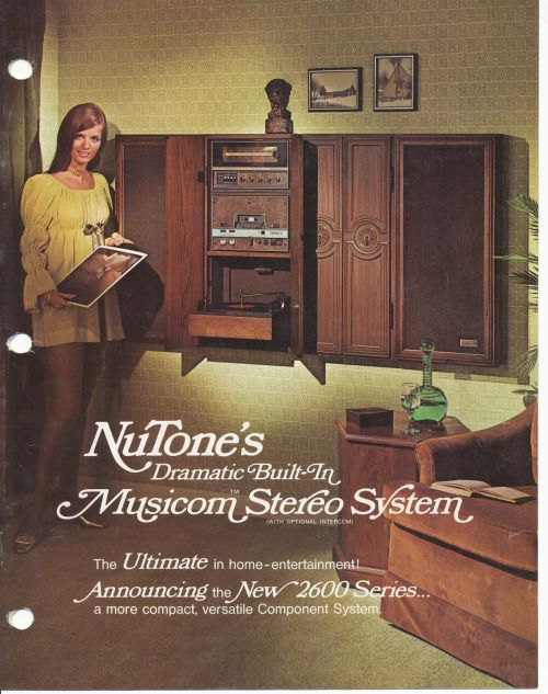 1972 NuTone's Dramatic Built-In Musicom Stereo System