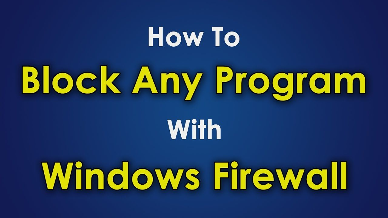 How to block any program with windows firewall  | Computer Tricks