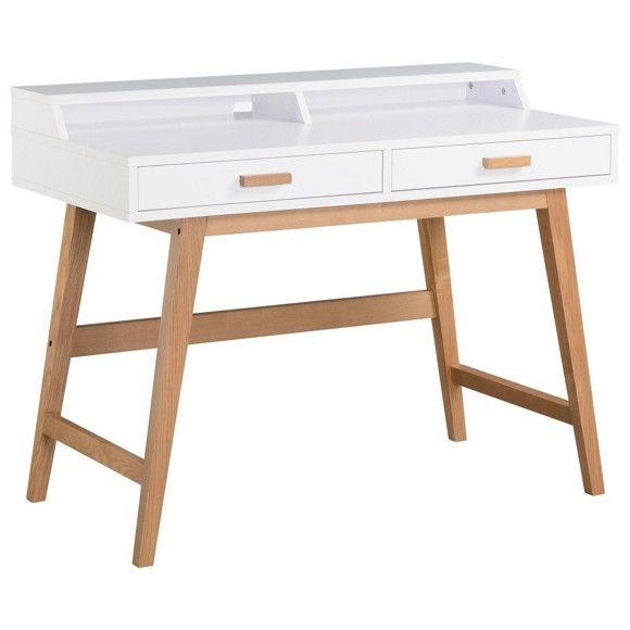Schreibtischplatte weiß  Moderner Schreibtisch in Weiß von XORA | Schreibtisch kinder ...