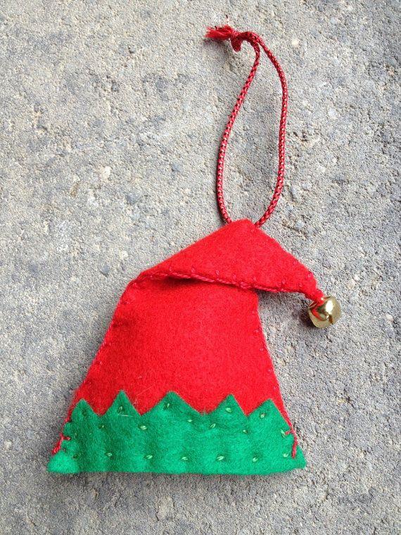 Elf Hat Felt Ornament. Repinned by www.mygrowingtraditions.com