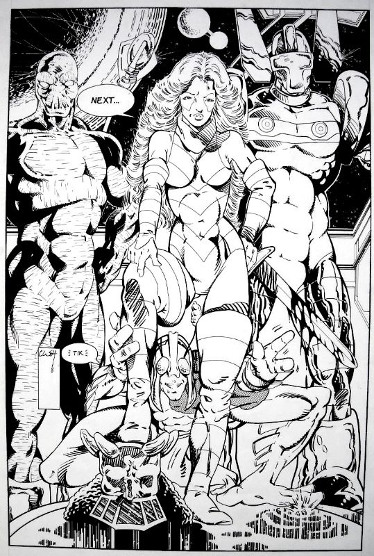 Chuck Wojkiewicz - Micronauts Pin-Up Comic Art - Huntarr, Marionette ...