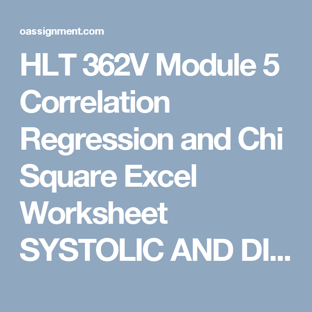topic five correlation regression and chi square excel worksheet directions answer all problems and  Linear regression is a method of estimating the portion of a cost that is variable and the portion that is fixed this method models the relationship between an activity and the total cost by fitting a linear equation to the data.