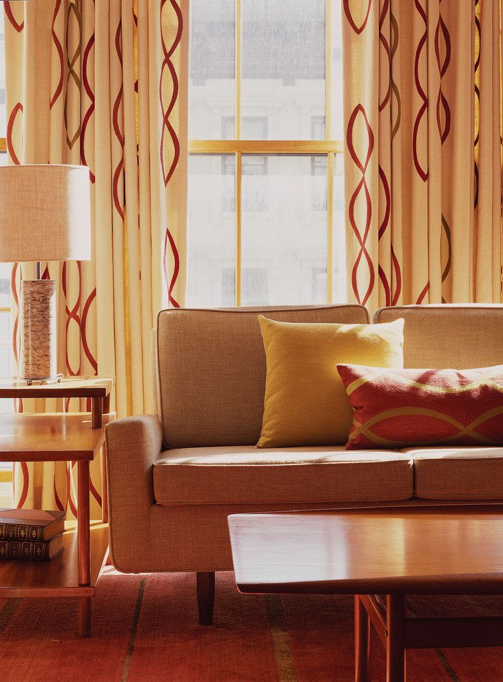 Greenwich Village Penthouse - modern - living room - new york - Amy Lau Design - love the couch and curtains