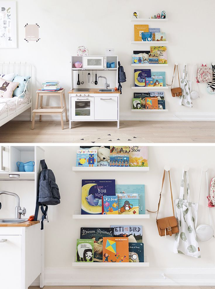Ikea Ribba Bookshelves Ikea Hack With Picture Ledges Used As