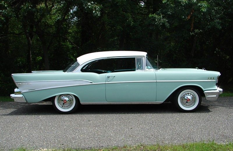 Hard Top Version Of My Dream Car 57 Chevy In Sea Foam Green Chevrolet Bel Air Classic Cars Chevy Chevy Vehicles
