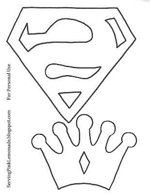 Molde Logo Superman Fieltro Manualidades Con Fieltro Superhero