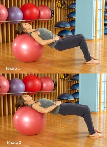 swiss ball exercices de fitball avec un swiss ball gym yoga and physique. Black Bedroom Furniture Sets. Home Design Ideas