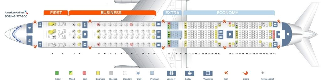 Seat Map Boeing 777 300 American Airlines Best Seats In The Plane