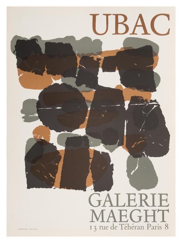 Galerie Maeght Ubac Exposition 1966 Poster Print Lithography Illustrationer Og Plakater Kunstvaerk Illustration