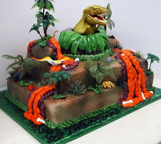 trex birthday cake dinosaur cakes decoration ideas Dinosaurs