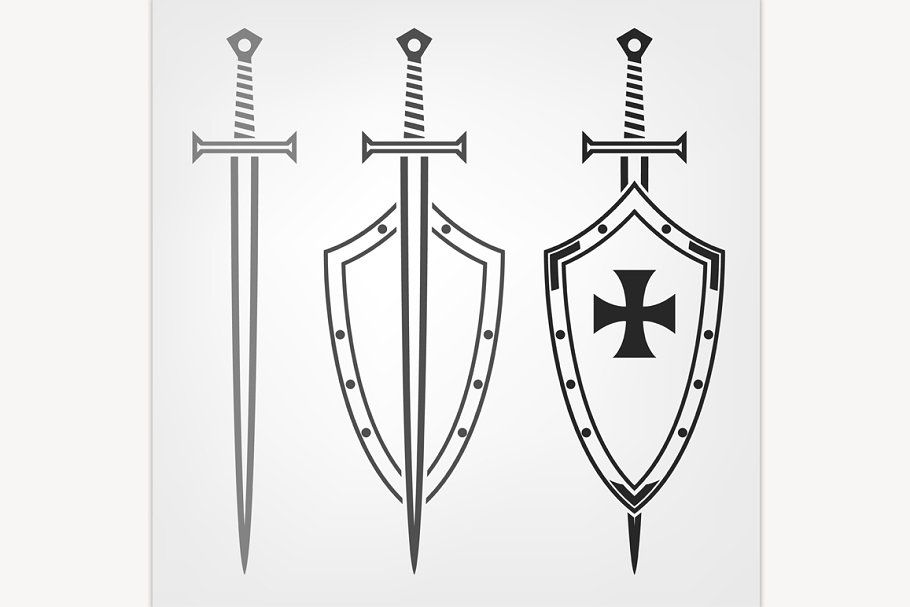 Swords And Shield Shield Drawing Medieval Shields Swords Medieval