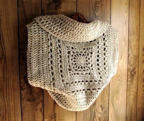 4) Nombre: \'El ganchillo: Plaza Granny Círculo suéter del ...