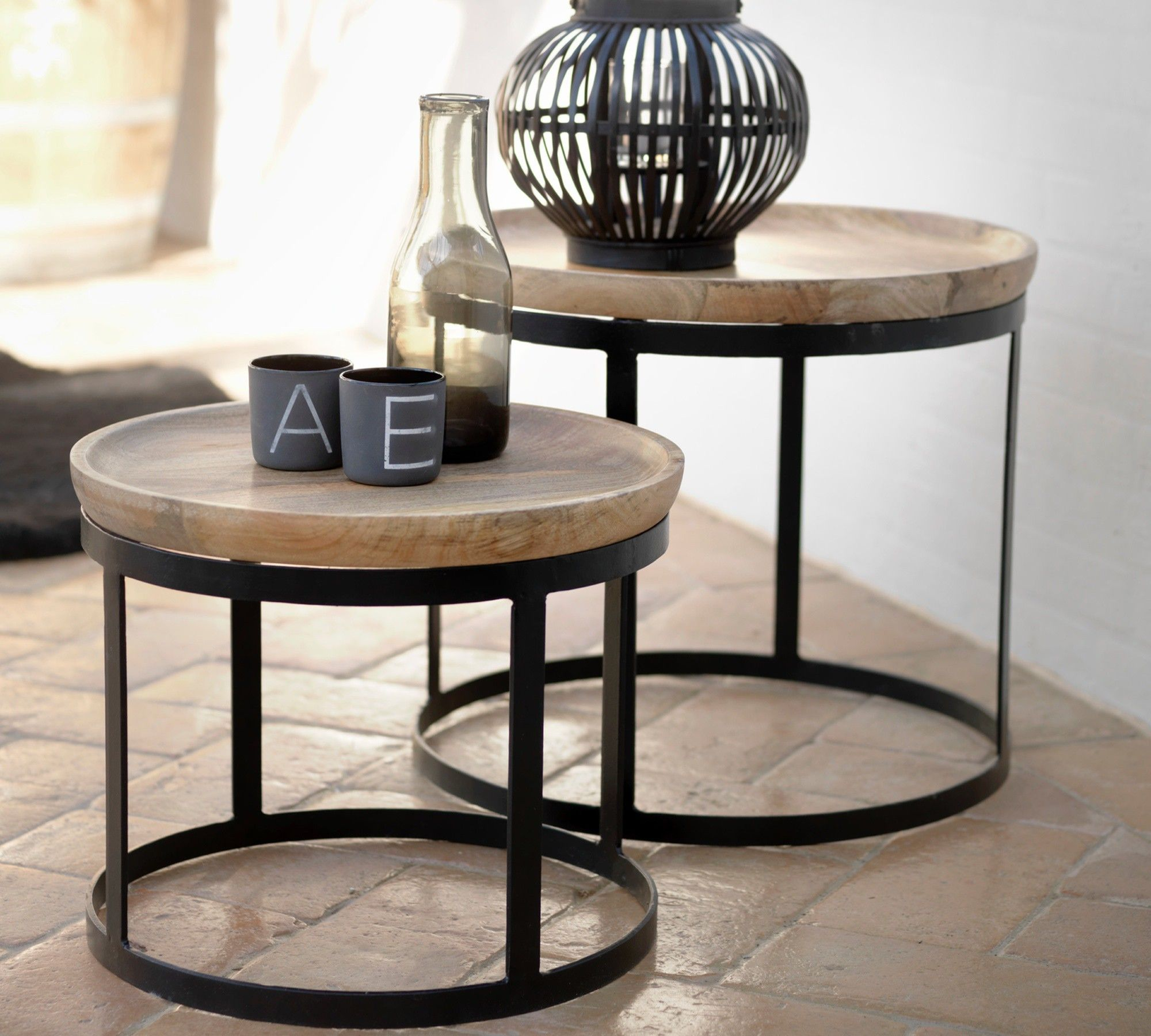 Beistelltisch Set gabler design beistelltisch 2er set paolo spiegel