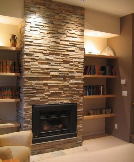 Stone Fireplace With Built In Cabinets: Ledgestone Fireplace Design, Pictures, Remodel, Decor And