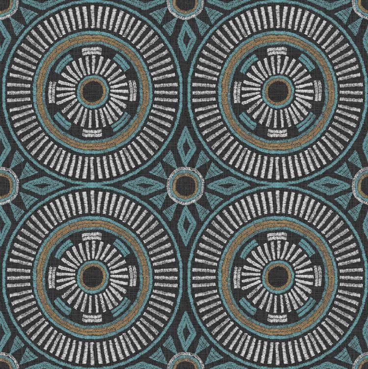 Deco Ethnique Avec Un Papier Peint Expanse Wax Cercle Bleu Castorama Decoration Amenagement Ideesdeco Tendan Papier Peint Castorama Magasin Papier Peint