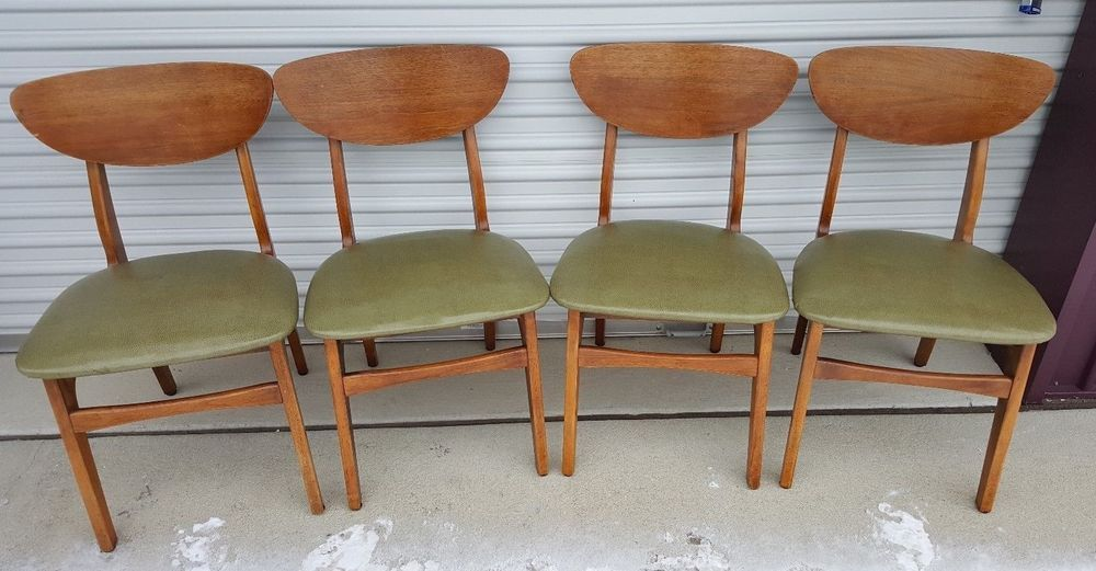 Victor Garrison Mid Century Danish Modern Clam Shell Dining Chairs