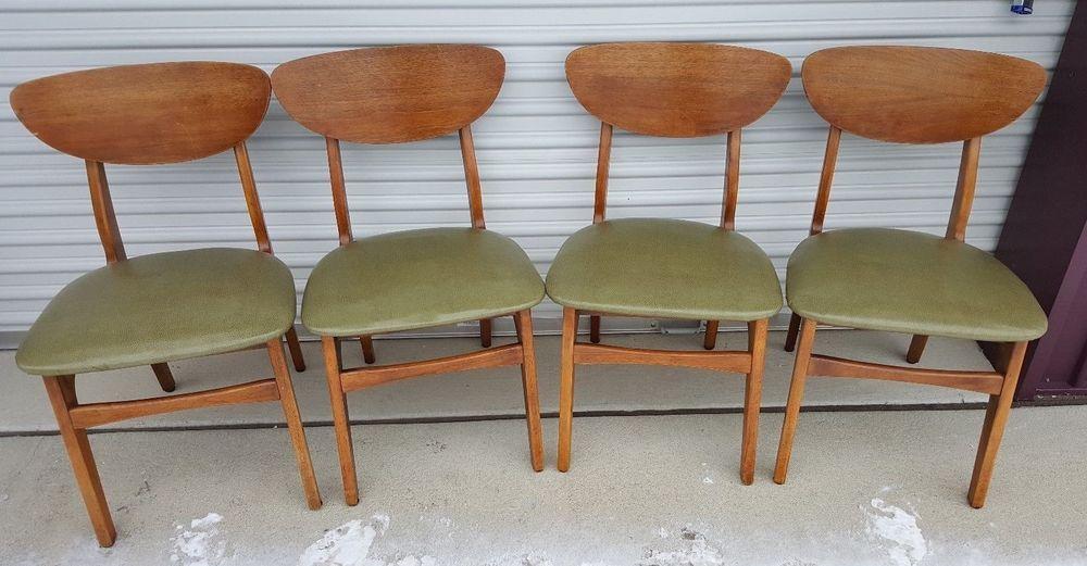 Victor Garrison Mid Century Danish Modern Clam Shell Dining Chairs