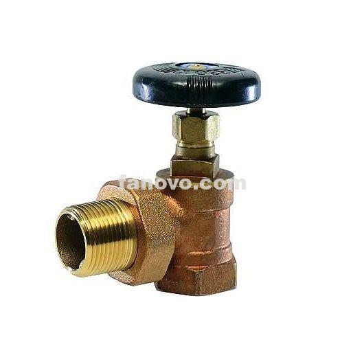 F45 3 4 Hot Water Female Npt Male Union Brass Radiator Angle Valve