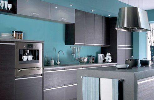 Cocinas En Color Turquesa Cocinas Turquoise Kitchen Cabinets